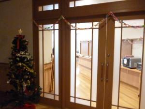 クリスマス会の会場